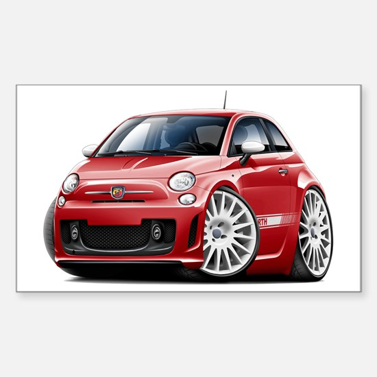 Abarth Red Car Sticker (Rectangle)