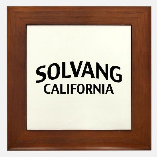 Solvang California Framed Tile
