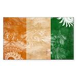 Ivory Coast Flag Sticker (Rectangle 50 pk)