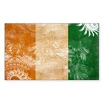 Ivory Coast Flag Sticker (Rectangle 10 pk)