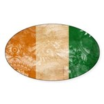 Ivory Coast Flag Sticker (Oval 50 pk)