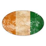 Ivory Coast Flag Sticker (Oval 10 pk)