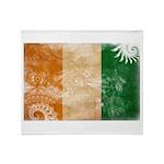 Ivory Coast Flag Throw Blanket