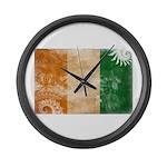 Ivory Coast Flag Large Wall Clock