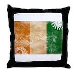 Ivory Coast Flag Throw Pillow