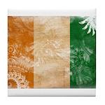 Ivory Coast Flag Tile Coaster