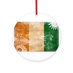 Ivory Coast Flag Ornament (Round)