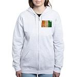 Ivory Coast Flag Women's Zip Hoodie