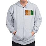 Ivory Coast Flag Zip Hoodie
