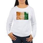 Ivory Coast Flag Women's Long Sleeve T-Shirt