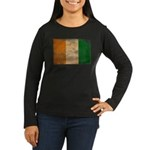 Ivory Coast Flag Women's Long Sleeve Dark T-Shirt