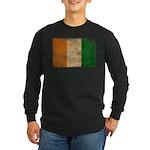 Ivory Coast Flag Long Sleeve Dark T-Shirt