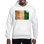 Ivory Coast Flag Hooded Sweatshirt