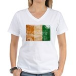 Ivory Coast Flag Women's V-Neck T-Shirt