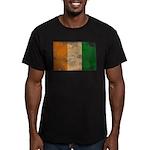 Ivory Coast Flag Men's Fitted T-Shirt (dark)
