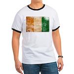Ivory Coast Flag Ringer T