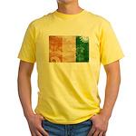 Ivory Coast Flag Yellow T-Shirt