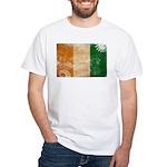 Ivory Coast Flag White T-Shirt