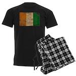 Ivory Coast Flag Men's Dark Pajamas