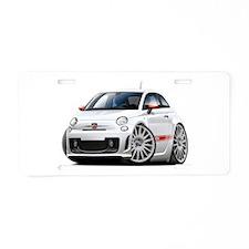 Abarth White Car Aluminum License Plate
