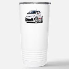 Abarth White Car Travel Mug