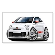 Abarth White Car Decal