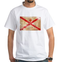 Jersey Flag White T-Shirt