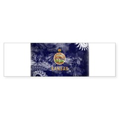 Kansas Flag Bumper Sticker