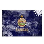 Kansas Flag Postcards (Package of 8)