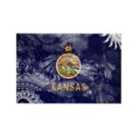 Kansas Flag Rectangle Magnet (100 pack)