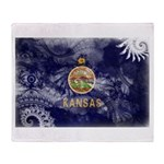 Kansas Flag Throw Blanket