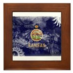 Kansas Flag Framed Tile