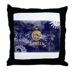 Kansas Flag Throw Pillow