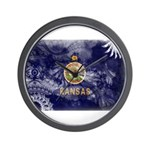 Kansas Flag Wall Clock