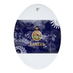 Kansas Flag Ornament (Oval)