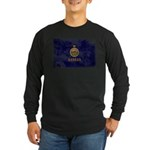 Kansas Flag Long Sleeve Dark T-Shirt