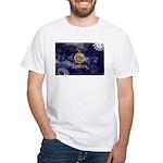 Kansas Flag White T-Shirt