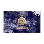 Kansas Flag 38.5 x 24.5 Wall Peel