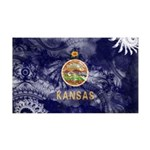 Kansas Flag 38.5 x 24.5 Wall Peel