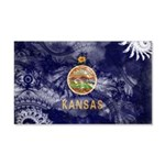 Kansas Flag 22x14 Wall Peel