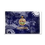 Kansas Flag Car Magnet 20 x 12