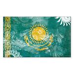 Kazakhstan Flag Sticker (Rectangle 10 pk)