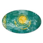 Kazakhstan Flag Sticker (Oval 10 pk)