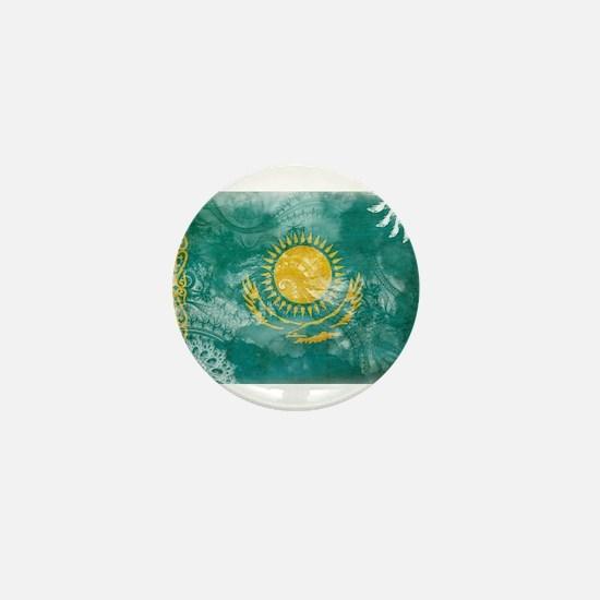 Kazakhstan Flag Mini Button