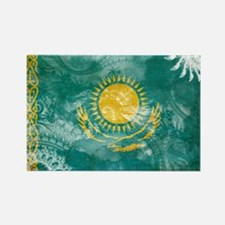 Kazakhstan Flag Rectangle Magnet