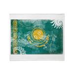 Kazakhstan Flag Throw Blanket