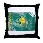 Kazakhstan Flag Throw Pillow