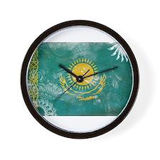Kazakhstan Flag Wall Clock