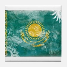 Kazakhstan Flag Tile Coaster