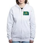 Kazakhstan Flag Women's Zip Hoodie